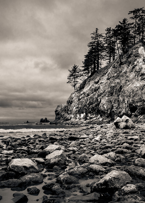 Pinnacle Second Beach Olympic National Park Edit Photography Art | Dan Katz, Inc.