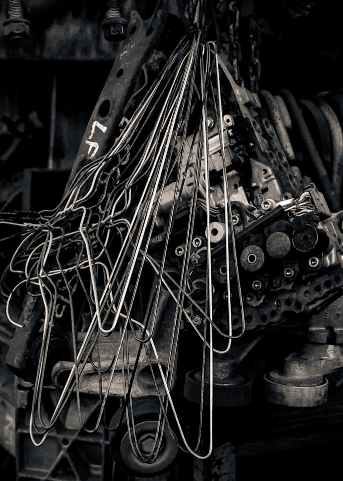 Scrap Yard Wire Hangers And Parts Photography Art | Dan Katz, Inc.