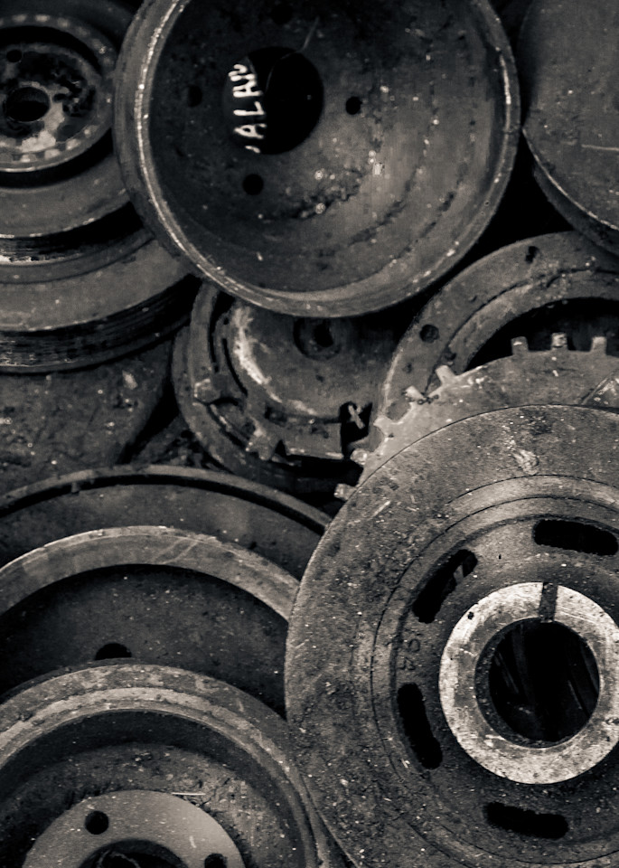 Scrap Yard Wheels Cogs And Gears Photography Art | Dan Katz, Inc.