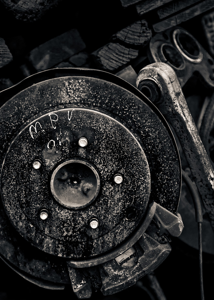 Scrap Yard Disc Brake Photography Art | Dan Katz, Inc.