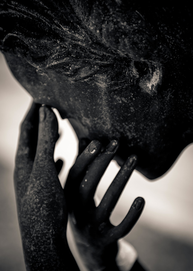 Crying Statue Metarie Cemetery New Orleans Louisiana 2017 Photography Art | Dan Katz, Inc.