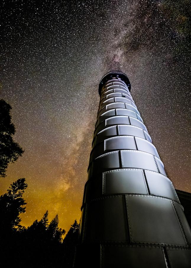 Cana Island Lighthouse And Milky Way Photography Art | brucedanz