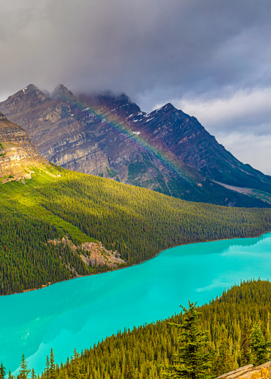 Clearing Storm Over Peyto Lake Photography Art   brucedanz