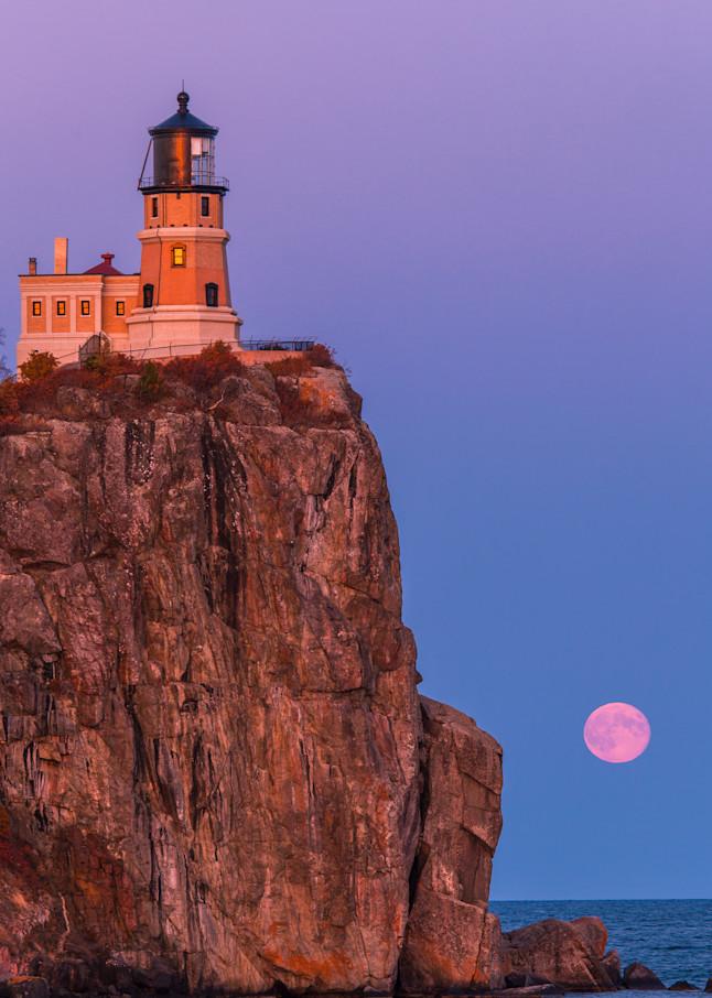 Moonrise At Split Rock Lighthouse Photography Art | brucedanz