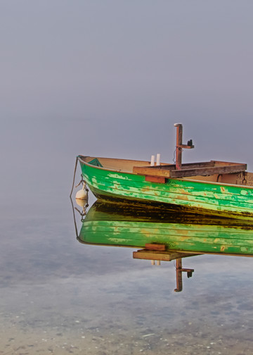 Sengekontacket Winter Dinghy Art | Michael Blanchard Inspirational Photography - Crossroads Gallery