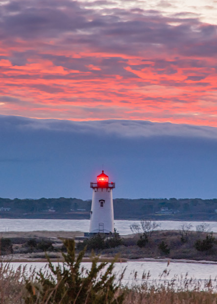 Edgartown Light Magenta Sky Art | Michael Blanchard Inspirational Photography - Crossroads Gallery