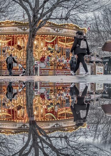 Christmas Merry Go Round Art | Martin Geddes Photography