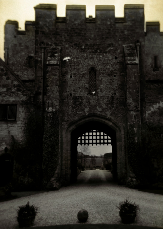 Holga Camera Image of the Porticulus Gate into Amberley Castle, Sussex, England