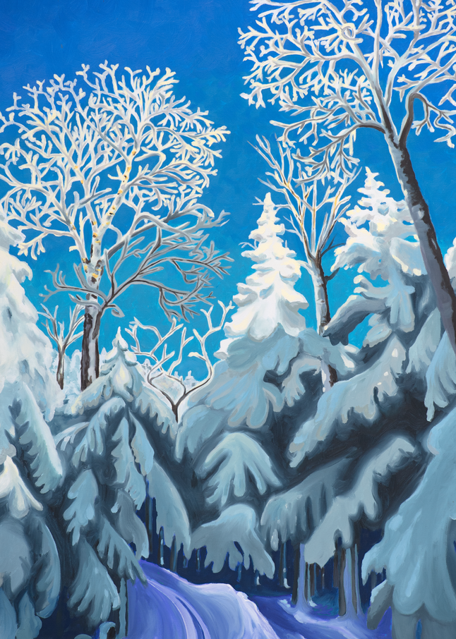 Heavenly Highway Ski Art for Sale