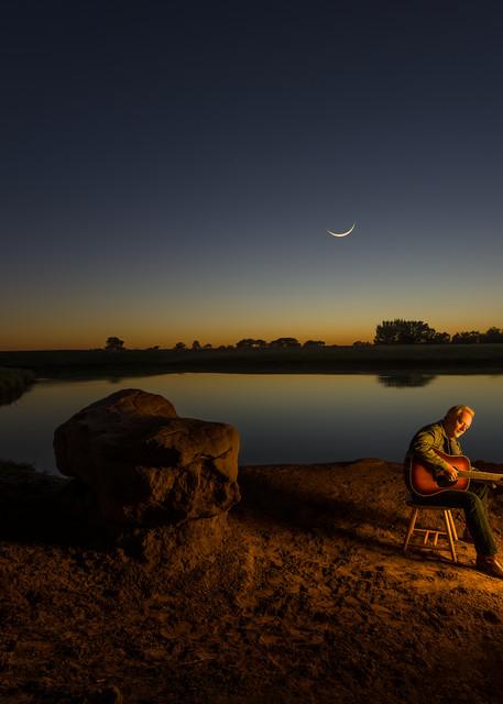 Danny Everitt, Singer Guitarist,Twilight,Texas, Fireplace,Pond