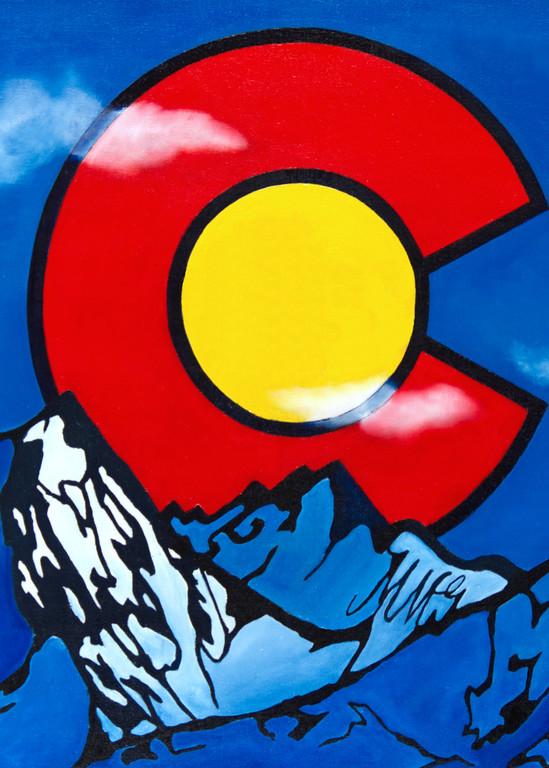 Colorado Tribute (No Logo) Art | MMG Art Studio | Fine Art Colorado Gallery