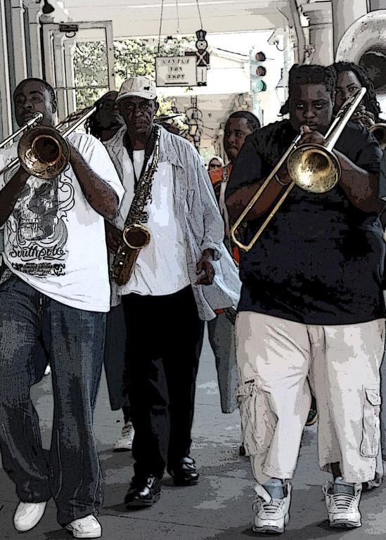 Sidewalk band Decatur Street