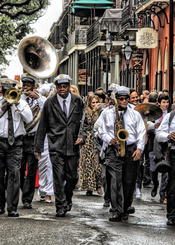 Jazz Band Wedding Procession  Photography Art | rozcoxosbornephoto.com
