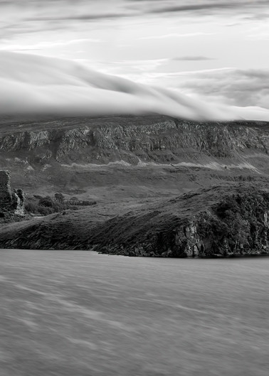 Clouds Rolling in Over Ardvreck Castle, Loch Assynt, Sutherland, Scotland