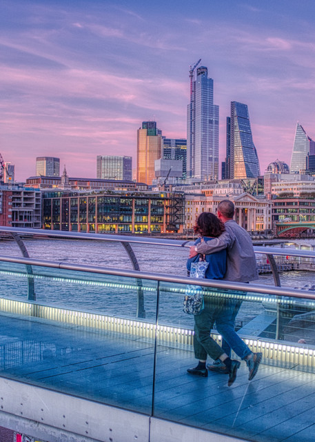 Couple On The Millennium Bridge Photography Art | Martin Geddes Photography