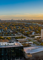 Aerial Panoramic view of The Houston Heights