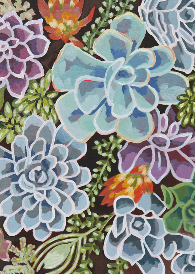A Succulent Oasis  Art   Kristin Webster Art Studio