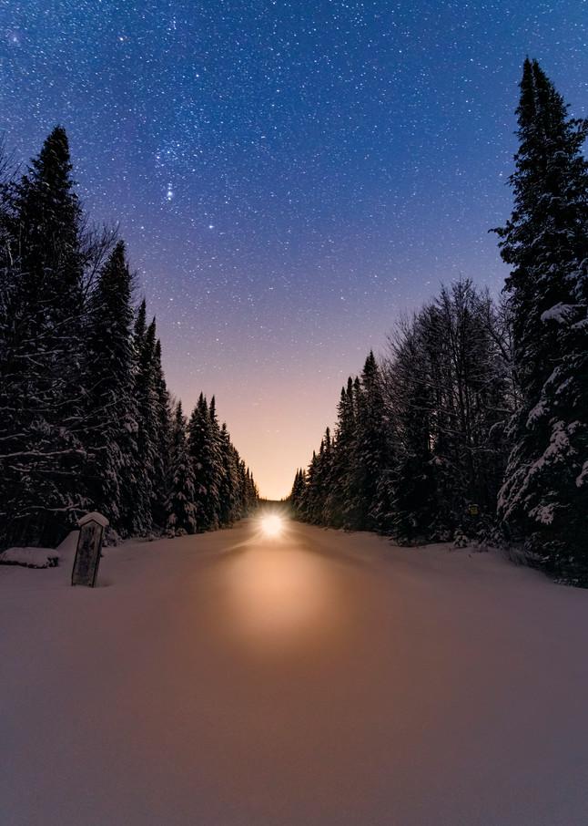 Snowmobile Star Night Photography Art | Kurt Gardner Photogarphy