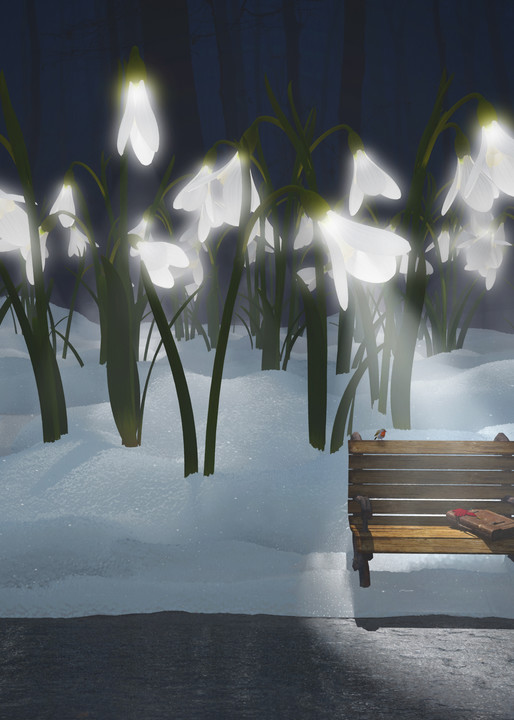 Snowdrop Bus Stop | Cynthia Decker | Curious3d.com