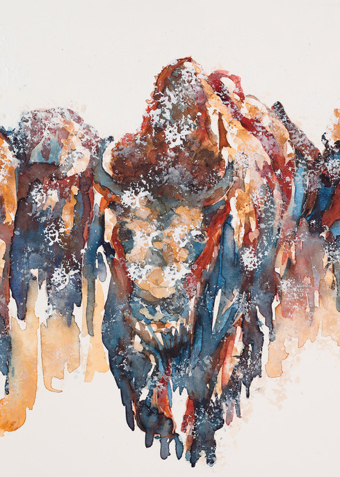 Snow Bison Art | Debra Bruner Studio