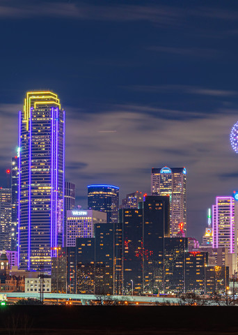 Kobe Bryant Dallas Skyline Tribute - Dallas Skyline Photo | William Drew