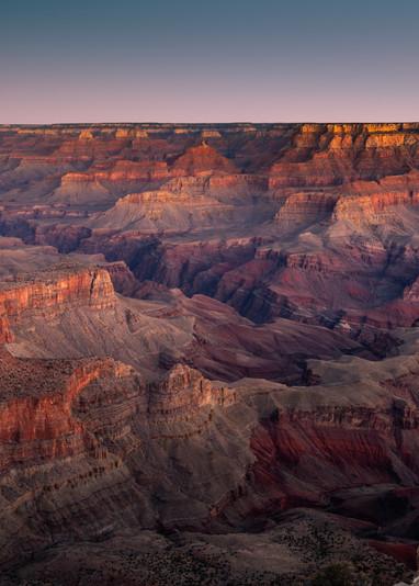 Sunrise Moon, Grand Canyon Art   The Carmel Gallery