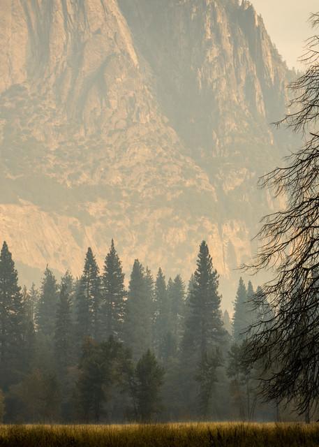 Smoky Haze in Yosemite - California landscape photograph print