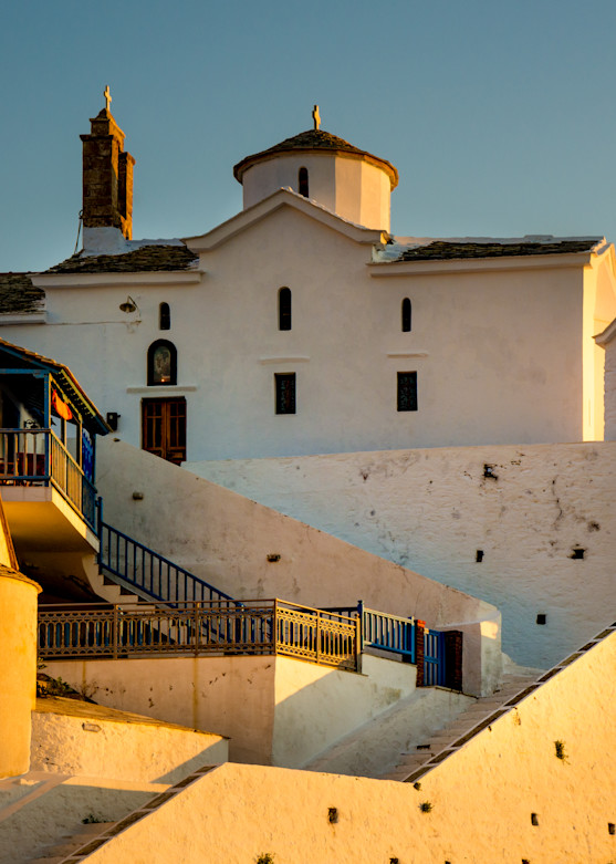 Church At Sunrise, Skopelos, Greece/ Sold by Ben Asen Photography