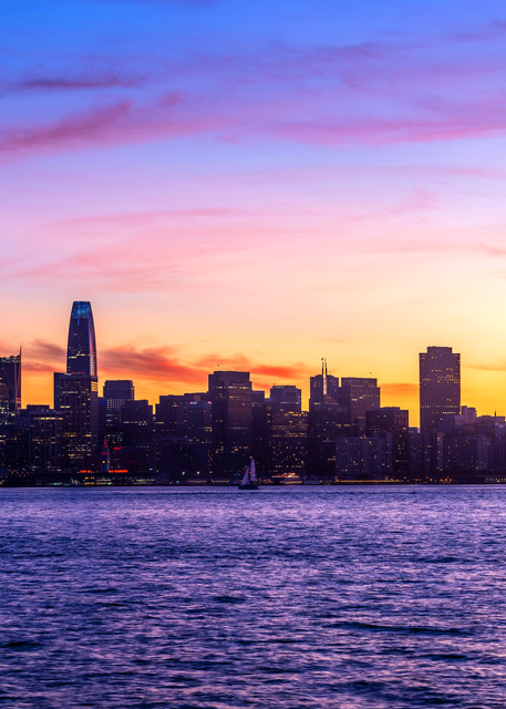 Colorful San Francisco Sunset - San Francisco Skyline Pictures
