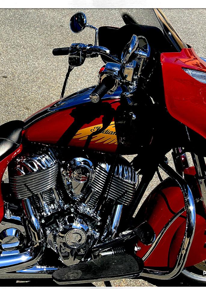 Indian Chief Motorcycle Instagram Print
