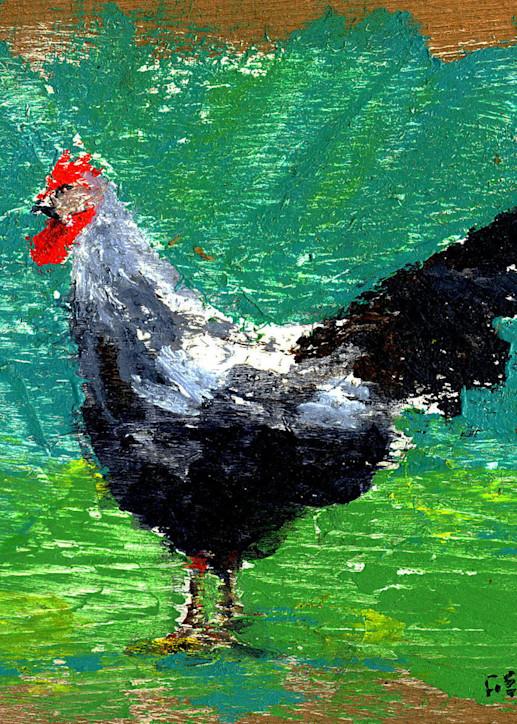 Bad-Ass Cockerel Art Print