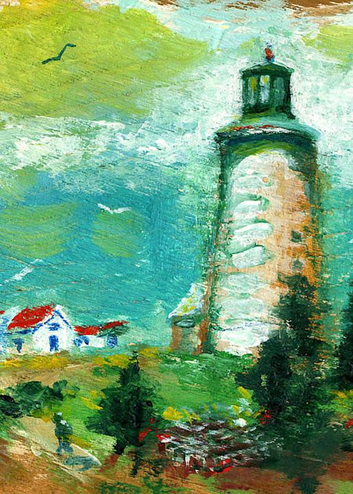 Monhegan Island Light Print