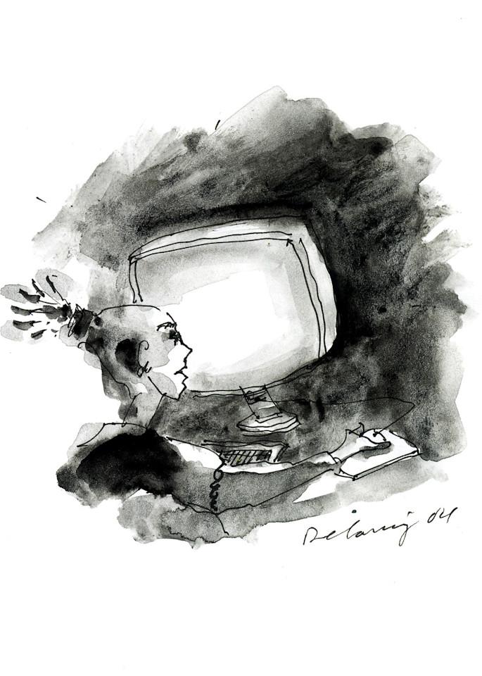 Computer Person #5 Print