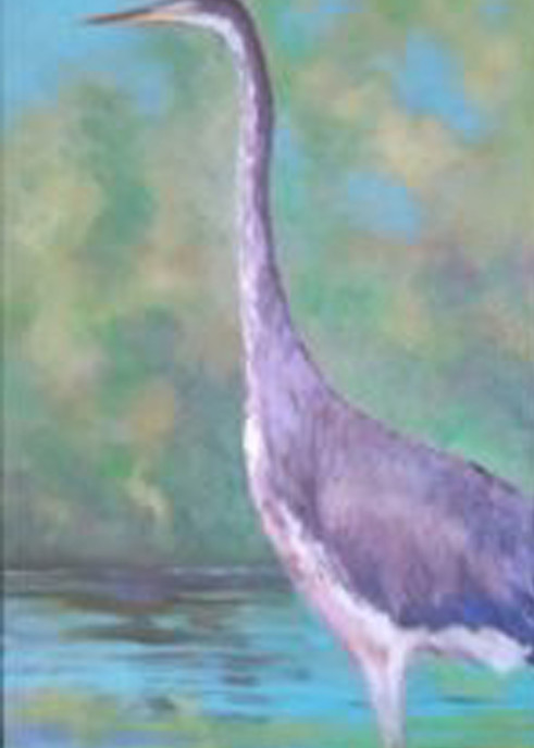 Blue Heron, From an Original Oil Painting