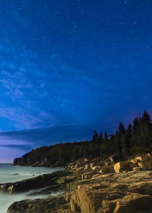 Otter Cliff Night Sky Photography Art | Monteux Gallery