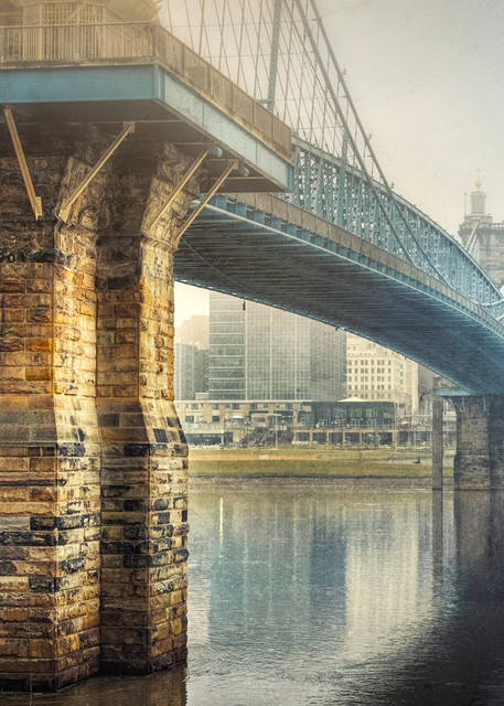 Roebling Bridge In The Fog Photography Art   Studio 221 Photography