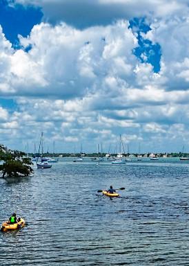 Kayaking On Sarasota Bay Photography Art | jimhooverphoto