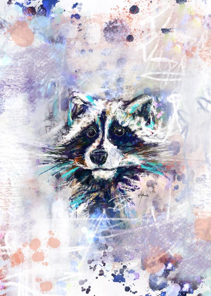 Raccoon Art   Kristyn Watterworth