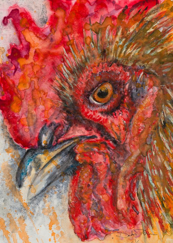 Badass Chicken Art | Debra Bruner Studio