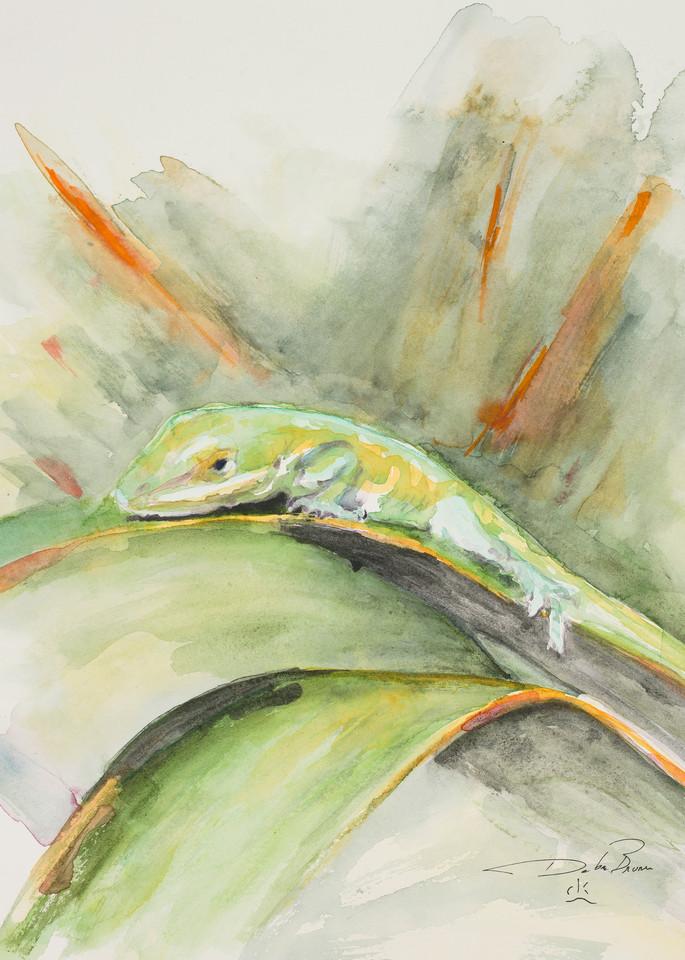 Anole A Courting Art | Debra Bruner Studio