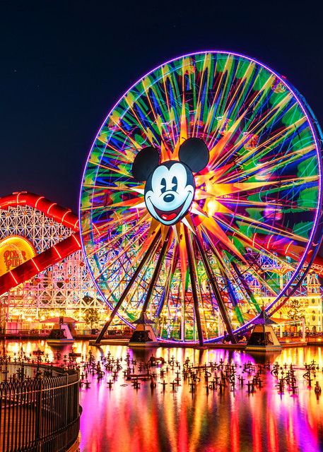 Pixar Pier and Mickey Mouse at California Adventure - California Adventure Photos