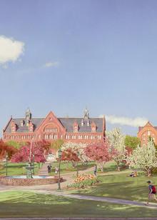 University Of Vermont Green At Spring Bloom  Art   The Huntington Studio