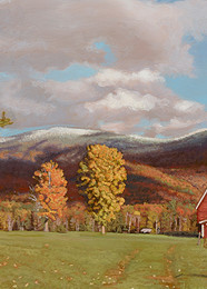 Red Barn Stowe  Art   The Huntington Studio