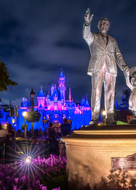 Disneyland at Night - Disneyland Castle Photos