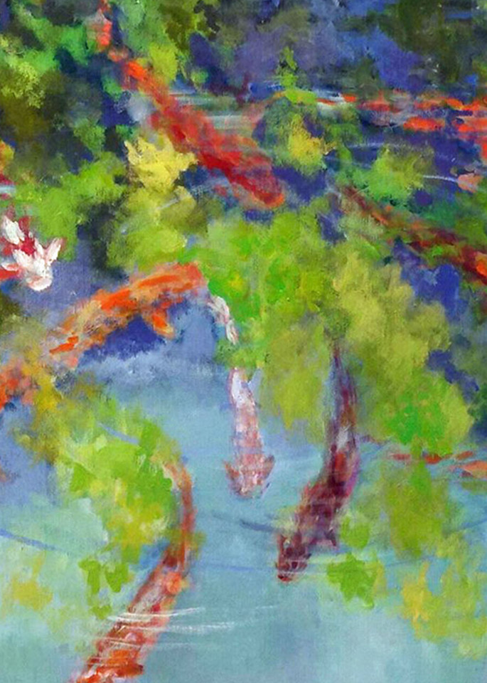 Koi, From an Original Oil Painting