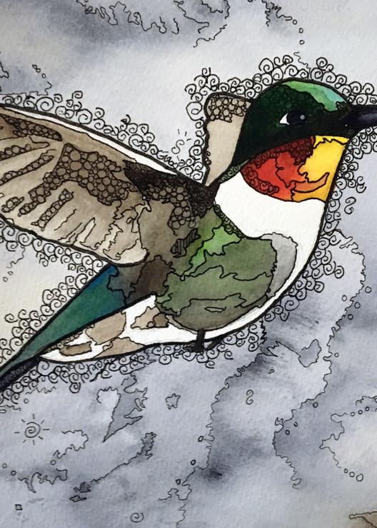 Hummingbird #3 Art | Water+Ink Studios