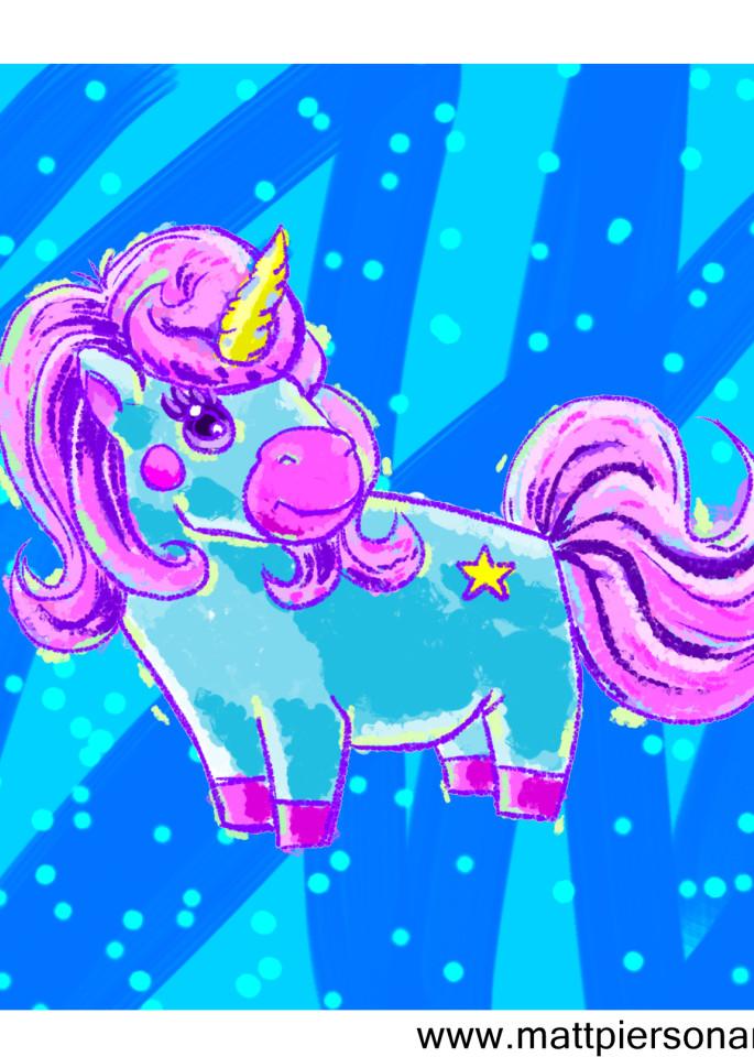 Cutesie Unicorn Art   Matt Pierson Artworks