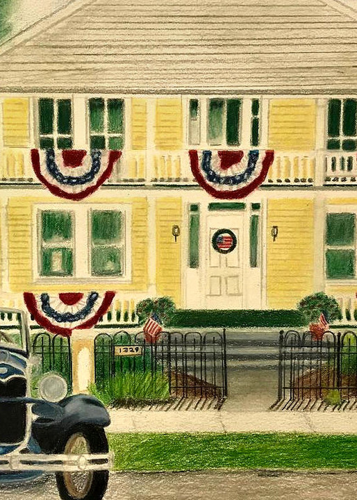 Rossetter House, From an Original Colored Pencil Painting
