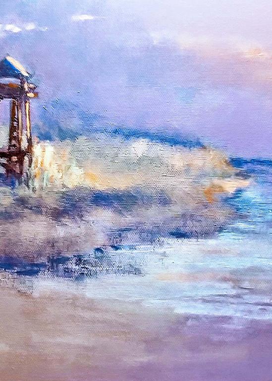 Sebastian Coast Guard Tower, Acrylic Painting