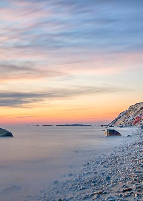 Gay Head Cliffs Pastel Sunset Art | Michael Blanchard Inspirational Photography - Crossroads Gallery